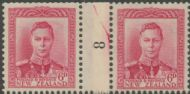 NZ Counter Coil Pair SG 683 1947 6d King George VI Join No. 8 (NCC/313)